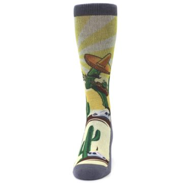 Image of Guitar Playing Cactus Men's Casual Socks (front-05)