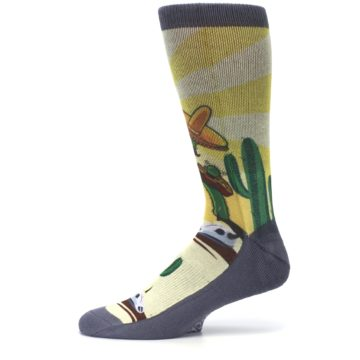 Image of Guitar Playing Cactus Men's Casual Socks (side-2-11)