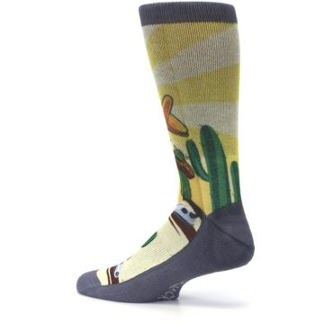 Image of Guitar Playing Cactus Men's Casual Socks (side-2-13)