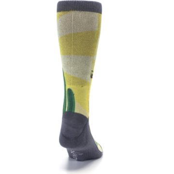 Image of Guitar Playing Cactus Men's Casual Socks (back-19)