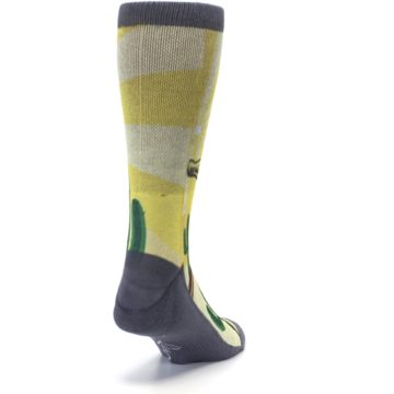 Image of Guitar Playing Cactus Men's Casual Socks (side-1-back-20)