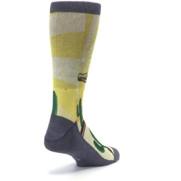 Image of Guitar Playing Cactus Men's Casual Socks (side-1-back-21)