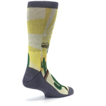 Image of Guitar Playing Cactus Men's Casual Socks (side-1-back-22)