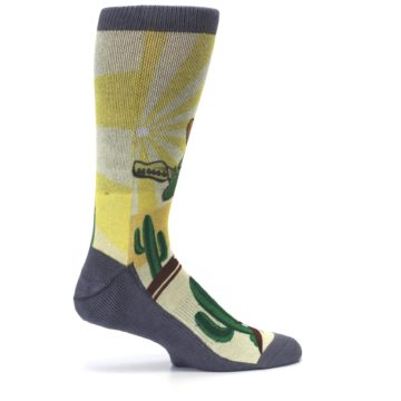 Image of Guitar Playing Cactus Men's Casual Socks (side-1-24)