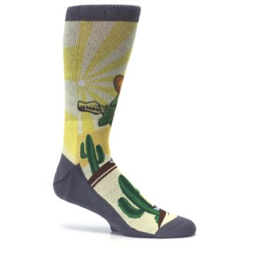 Image of Guitar Playing Cactus Men's Casual Socks (side-1-25)