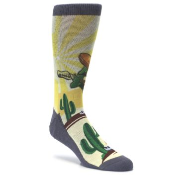 Image of Guitar Playing Cactus Men's Casual Socks (side-1-27)