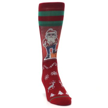 Image of Red Hip Santa Christmas Men's Casual Socks (side-1-front-03)
