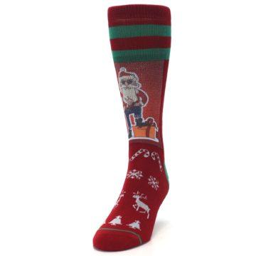 Image of Red Hip Santa Christmas Men's Casual Socks (side-2-front-06)