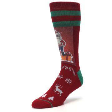 Image of Red Hip Santa Christmas Men's Casual Socks (side-2-front-08)