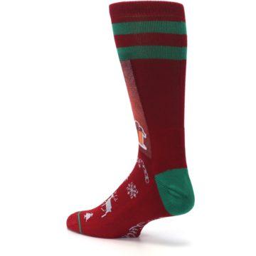 Image of Red Hip Santa Christmas Men's Casual Socks (side-2-back-14)