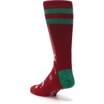 Image of Red Hip Santa Christmas Men's Casual Socks (side-2-back-15)