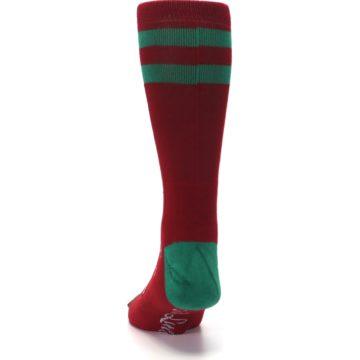 Image of Red Hip Santa Christmas Men's Casual Socks (back-17)