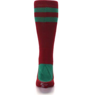 Image of Red Hip Santa Christmas Men's Casual Socks (back-18)