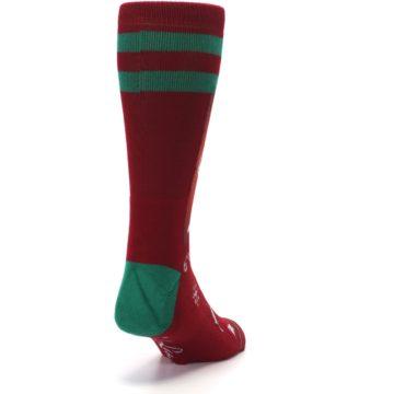 Image of Red Hip Santa Christmas Men's Casual Socks (side-1-back-20)