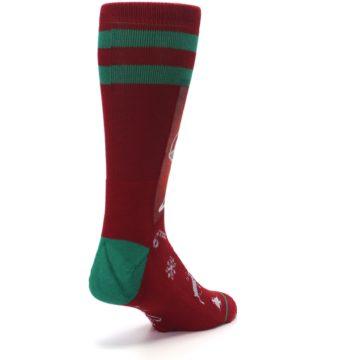 Image of Red Hip Santa Christmas Men's Casual Socks (side-1-back-21)