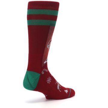 Image of Red Hip Santa Christmas Men's Casual Socks (side-1-back-22)