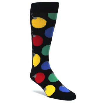 Black-Christmas-Bulb-Ornaments-Mens-Dress-Socks-Happy-Socks