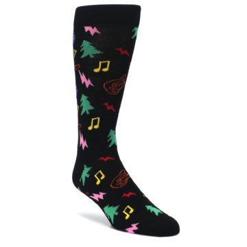 Black-Rock-n-Roll-Christmas-Mens-Dress-Socks-Happy-Socks
