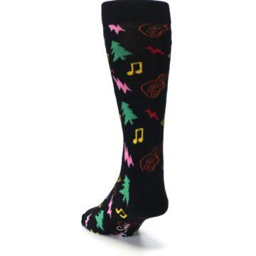 Image of Black Rock n Roll Christmas Men's Dress Socks (side-2-back-16)