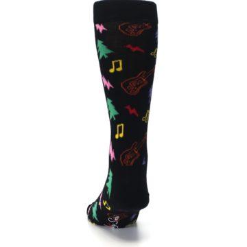 Image of Black Rock n Roll Christmas Men's Dress Socks (back-17)