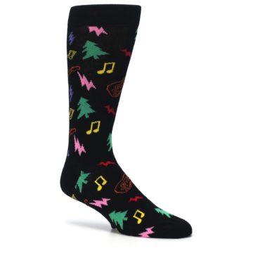 Image of Black Rock n Roll Christmas Men's Dress Socks (side-1-26)