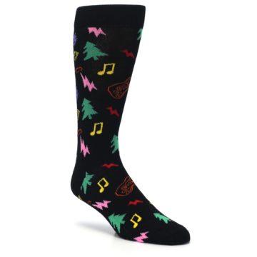 Image of Black Rock n Roll Christmas Men's Dress Socks (side-1-27)