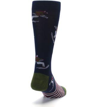 Image of Navy Maroon Wilmot Snow Skiing Men's Casual Socks (side-1-back-20)