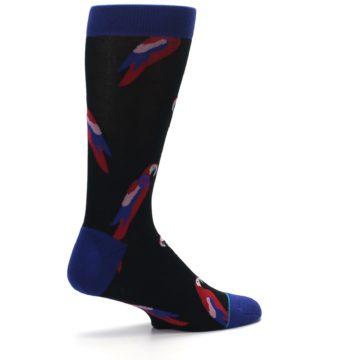 Image of Black Red Polly Bird Men's Casual Socks (side-1-23)