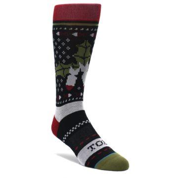 Black-Red-Mistletoe-Mens-Casual-Socks-STANCE