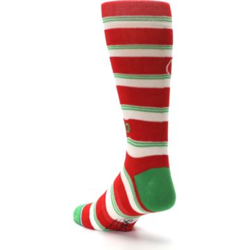Image of Red White Festivus Seinfeld Men's Casual Socks (side-2-back-15)