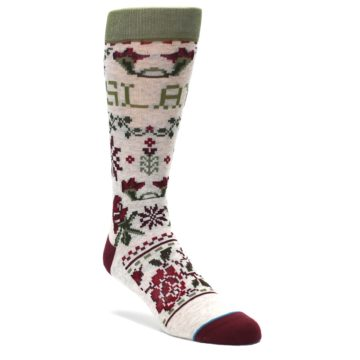 Christmas-Floral-Slay-Ride-Mens-Casual-Socks-STANCE