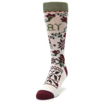 Image of Christmas Floral Slay Ride Men's Casual Socks (side-2-front-06)