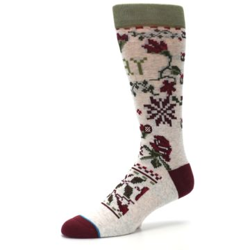 Image of Christmas Floral Slay Ride Men's Casual Socks (side-2-09)