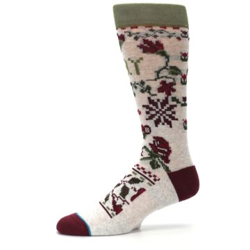Image of Christmas Floral Slay Ride Men's Casual Socks (side-2-10)
