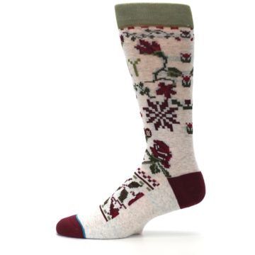 Image of Christmas Floral Slay Ride Men's Casual Socks (side-2-11)