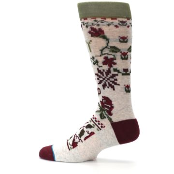 Image of Christmas Floral Slay Ride Men's Casual Socks (side-2-12)