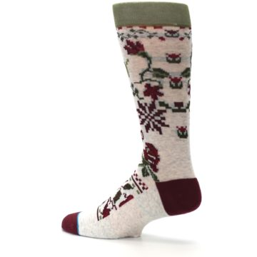 Image of Christmas Floral Slay Ride Men's Casual Socks (side-2-13)