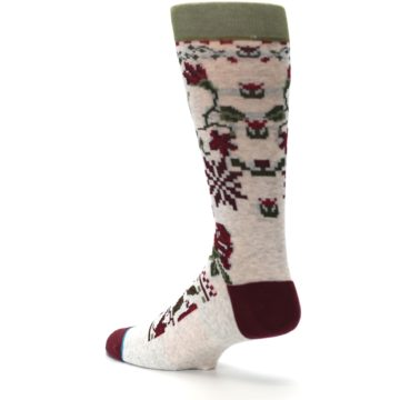Image of Christmas Floral Slay Ride Men's Casual Socks (side-2-back-14)