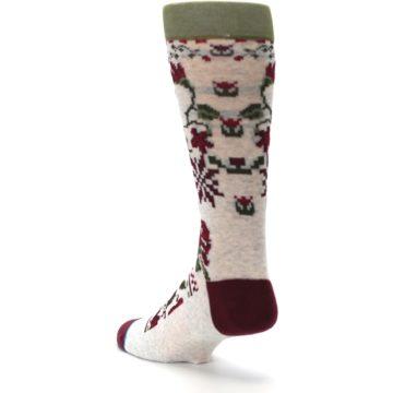Image of Christmas Floral Slay Ride Men's Casual Socks (side-2-back-15)