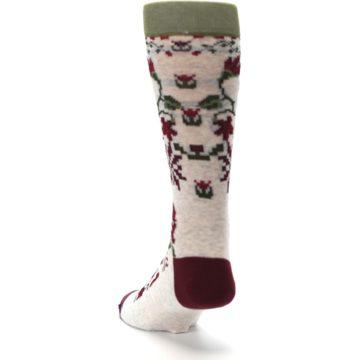 Image of Christmas Floral Slay Ride Men's Casual Socks (side-2-back-16)
