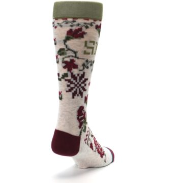 Image of Christmas Floral Slay Ride Men's Casual Socks (side-1-back-20)