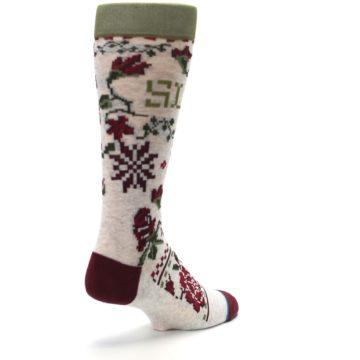Image of Christmas Floral Slay Ride Men's Casual Socks (side-1-back-21)