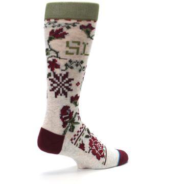 Image of Christmas Floral Slay Ride Men's Casual Socks (side-1-back-22)