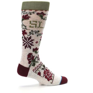 Image of Christmas Floral Slay Ride Men's Casual Socks (side-1-23)