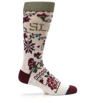 Image of Christmas Floral Slay Ride Men's Casual Socks (side-1-24)