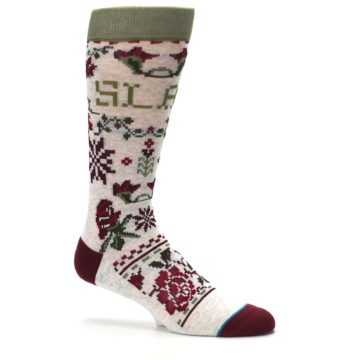 Image of Christmas Floral Slay Ride Men's Casual Socks (side-1-25)
