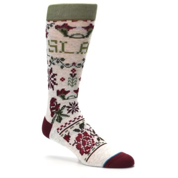 Image of Christmas Floral Slay Ride Men's Casual Socks (side-1-26)