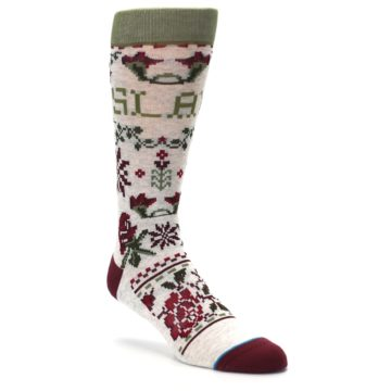 Image of Christmas Floral Slay Ride Men's Casual Socks (side-1-27)