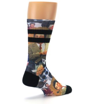 Image of Seinfeld Characters Printed Men's Casual Socks (side-1-back-22)