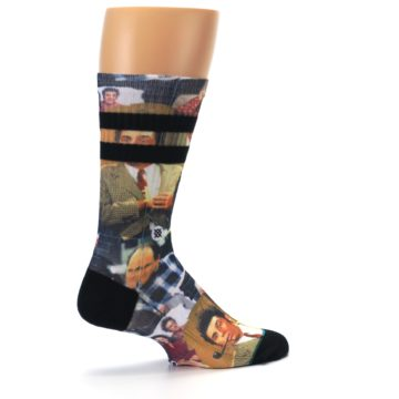 Image of Seinfeld Characters Printed Men's Casual Socks (side-1-23)